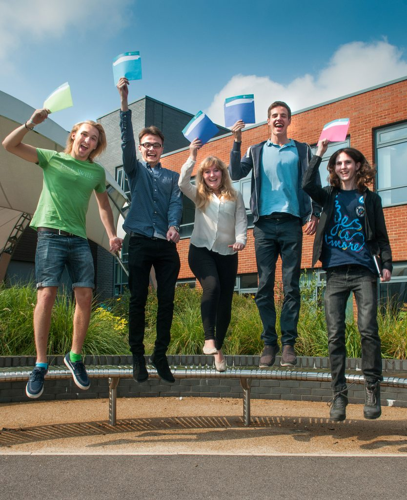 Students jump for joy on Results Day 2016
