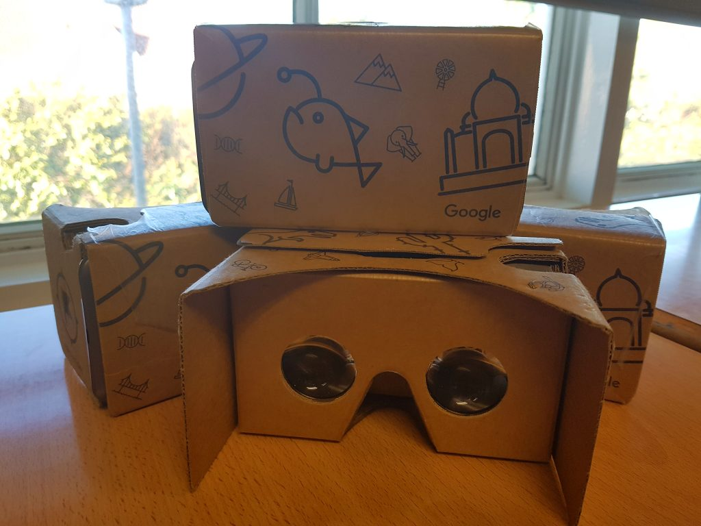 Google Expeditions virtual reality headsets