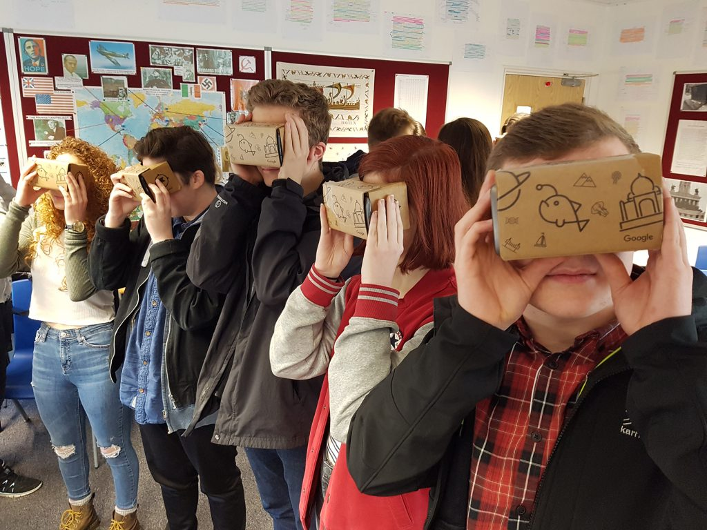 A Level Early History students experience virtual reality
