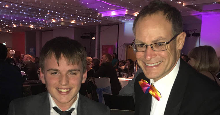 Joshua Dodd with Barton Peveril Principal Jonathan Prest