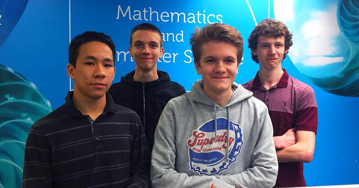 Senior Maths Challenge Team