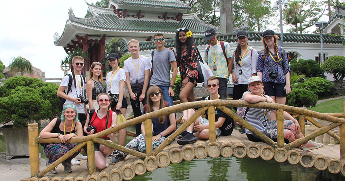 Barton Peveril students on a recent trip to China.