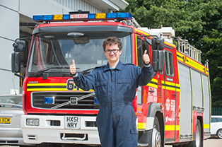 Work experience with fire fighters