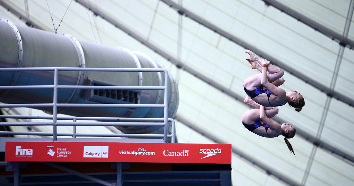 Emily Martin Diving in Canada