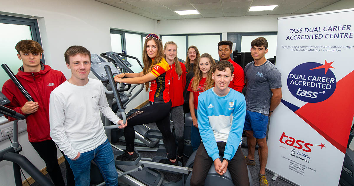 Barton Peveril's TASS students in the College Gym