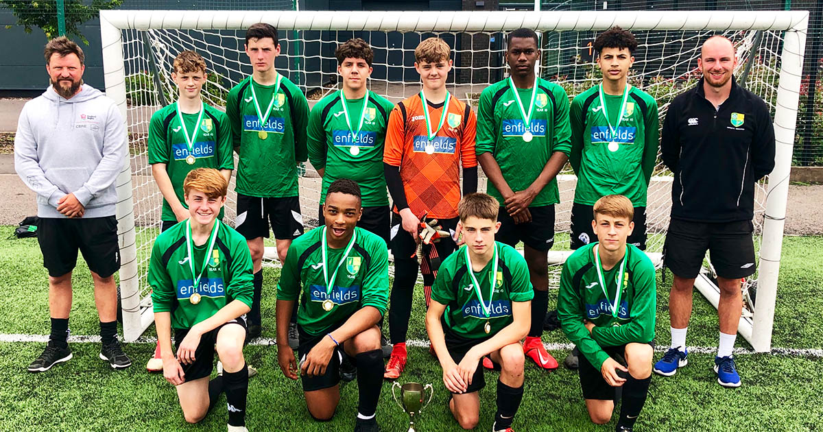 Barton Peveril Year 10 Six-a-Side Tournament Winners