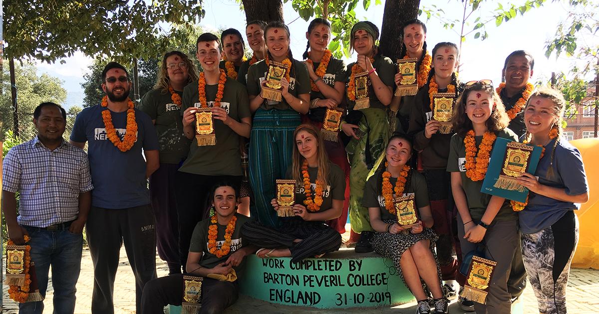 Barton Peveril's Group of Student Volunteers