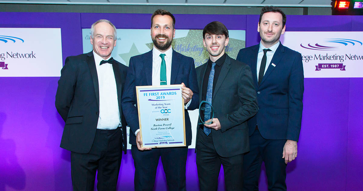 Barton Peveril Marketing Department named Team of the Year