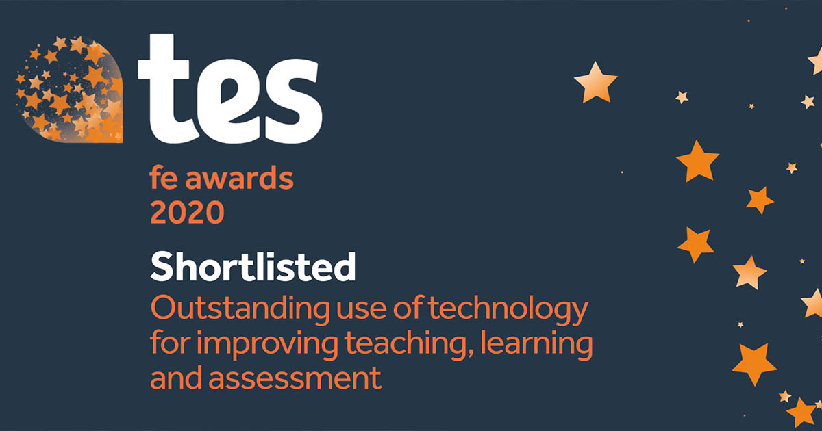 Barton Peveril Shortlisted for National Tes FE Award