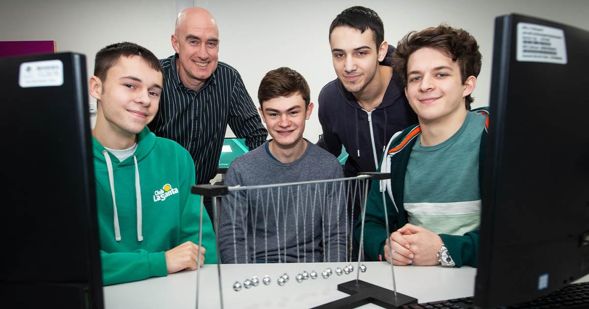 Barton Peveril's Winning Physics Students