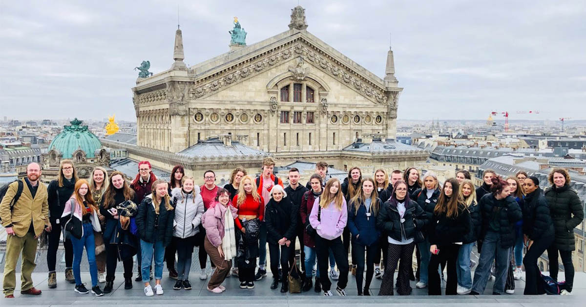 Barton Peveril Sixth Form College Students in Paris